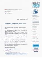 Отзыв немецкого эксперта о продукции РОСМОП